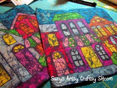 Pintar telas con crayones 8
