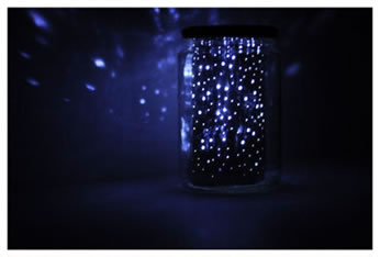 Lámpara con frasco y aluminio 1