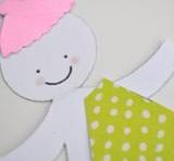 imagen Guirnalda de muñequitas de papel