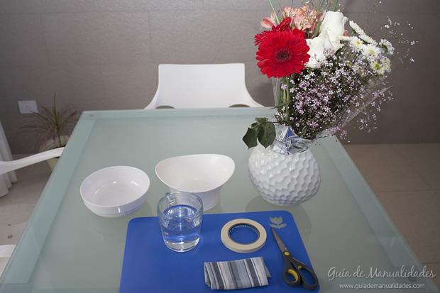 Arreglo de flores - materiales