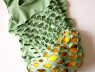 imagen Cómo hacer una bolsa de malla con una camiseta
