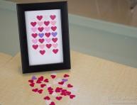 imagen Cuadro de corazones para decorar