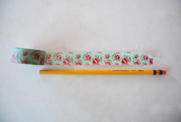 Lápices decorados con cinta washi 4