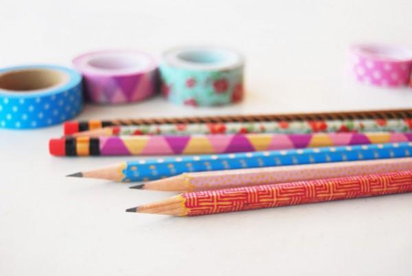 Lápices decorados con cinta washi 5