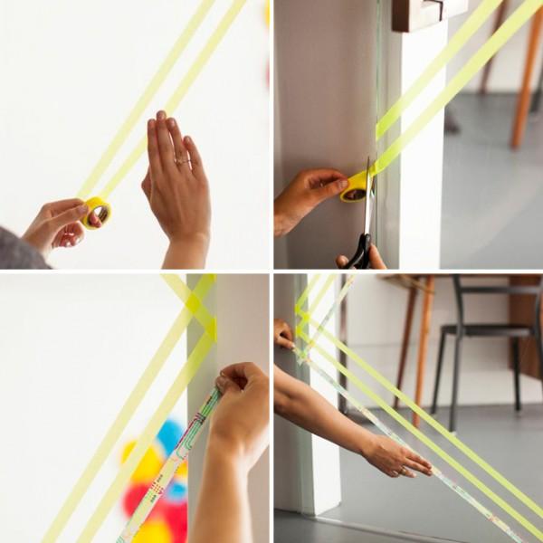 Puertas de cristal decoradas con cinta washi 3