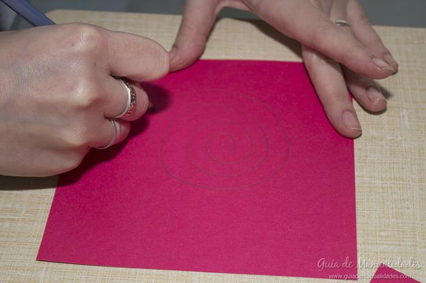Rosa de papel 3