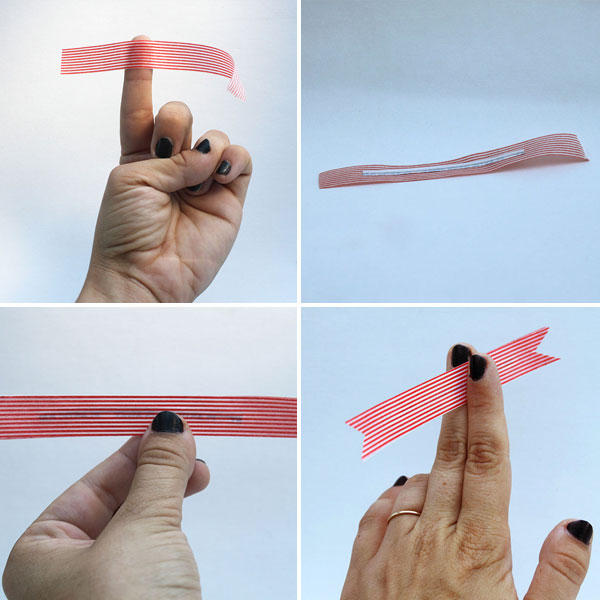 Sujetacables con cinta washi 3