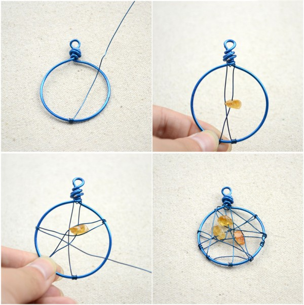 Step by step bracelet making with string