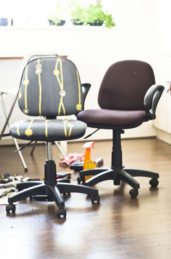 silla de escritorio desmontada