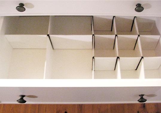 Organizador de cajones en cartón 1