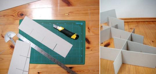 Organizador de cajones en cartón 2