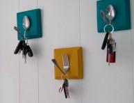imagen Colgadores para llaves con cubiertos antiguos