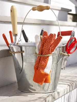 Organizar de herramientas jardinería
