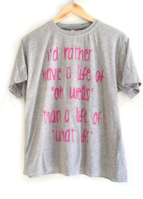 Camiseta con mensaje 1