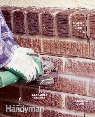 Reparar las juntas de ladrillos 2