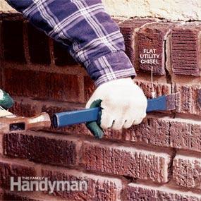 C mo reparar las juntas de las paredes de ladrillo gu a - Restaurar paredes viejas ...