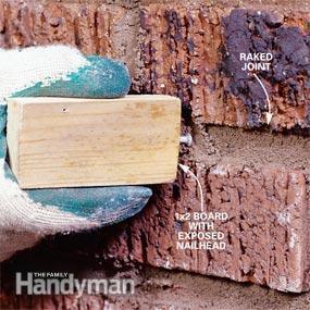 Reparar las juntas de ladrillos 7