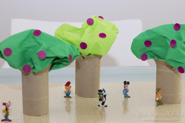 Árboles con tubos de carton 1