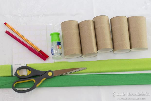 Árboles con tubos de carton 2