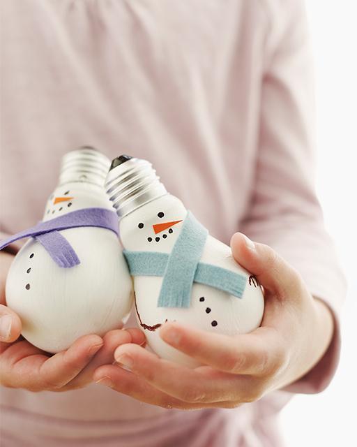 Adornos reciclando bombillas 2