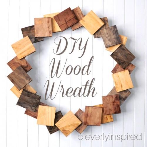 Corona navide a de madera gu a de manualidades - Articulos de madera para manualidades ...