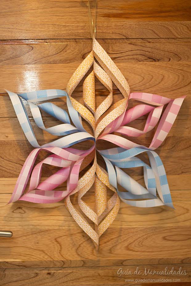 Estrella de papel para decorar gu a de manualidades - Papel para decorar ...