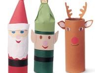 imagen Figuras navideñas con tubos de cartón