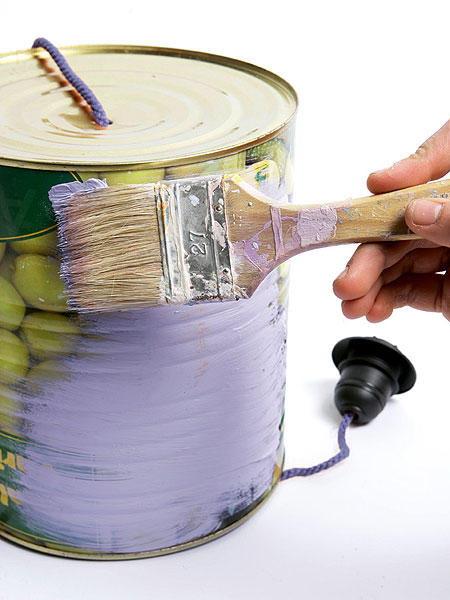 Lámparas con latas 5