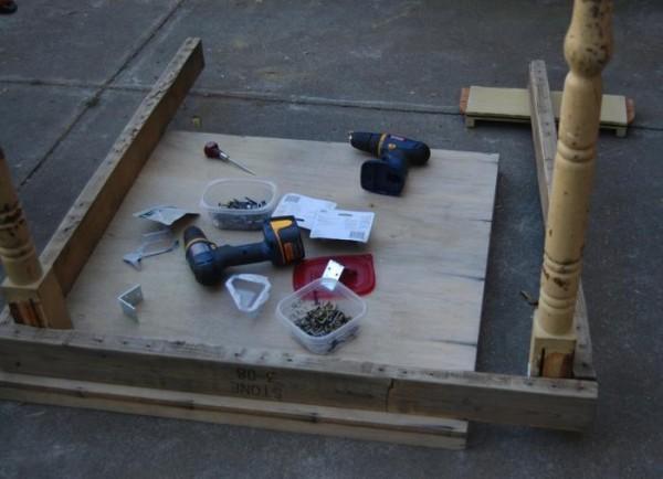 Mesa con suculentas realizada con un palet 3