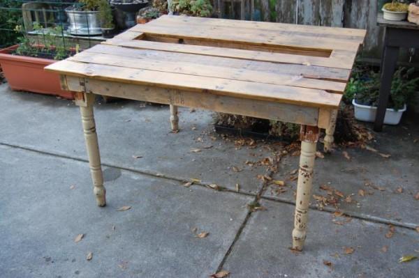 Mesa con suculentas realizada con un palet 4