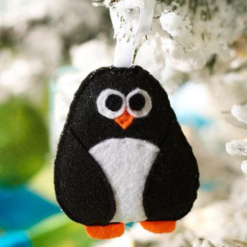 Pingüino de fieltro