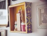 imagen Un viejo cajón transformado en estante decorativo