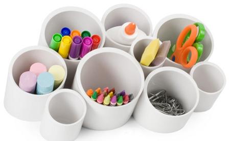 Organizador con tubos de pvc