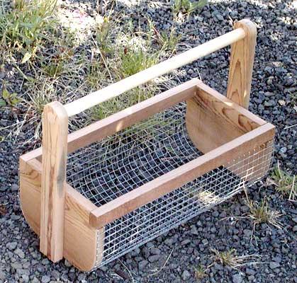 Cesta para recolectar en el huerto