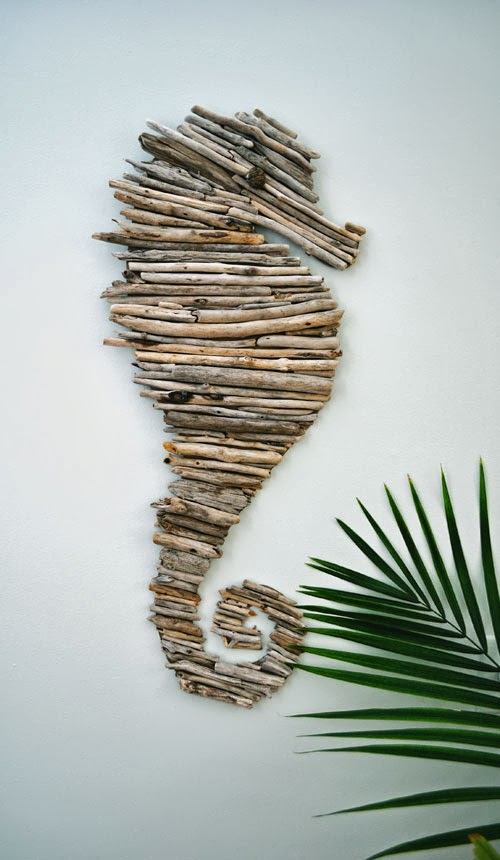 Driftwood Seahorse Decor
