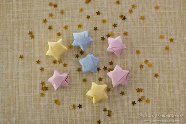 Estrellas de papel 3d