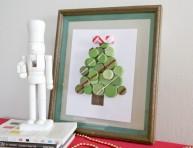 imagen Árbol navideño con tapitas plásticas