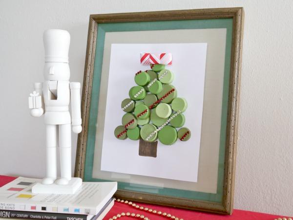 Árbol navidad con tapitas 1