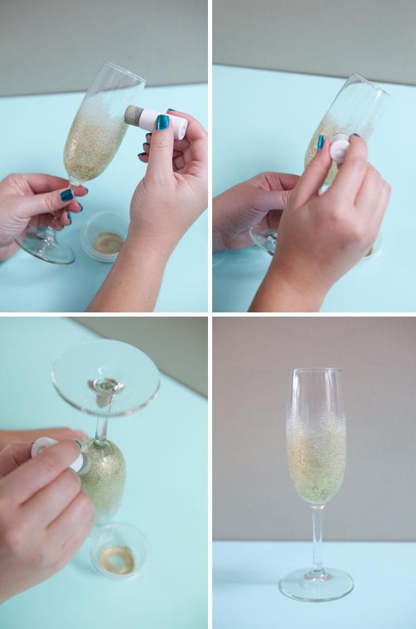 Decora tus copas para un brindis brillante por el nuevo año Artículo