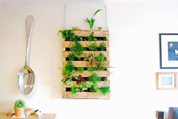 Jardin vertical con un palet 1