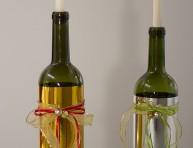imagen Portavela navideño reciclando botellas de vidrio
