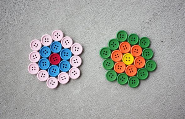 Posavasos con botones 2