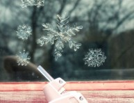 imagen Copos de nieve para decorar tus ventanas en navidad