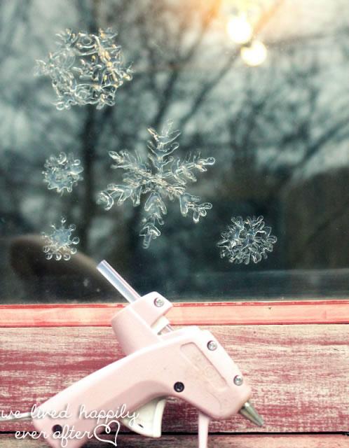 copos de nieve en tu ventana