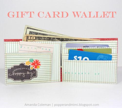 Cartera de papel para tarjetas de regalo 4