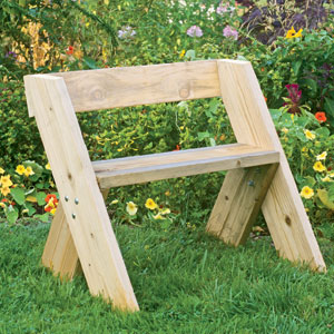 how to make a simple wood bench seat