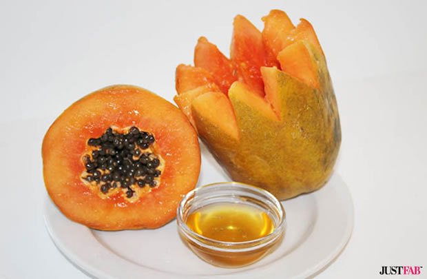 Máscara facial de miel y papaya
