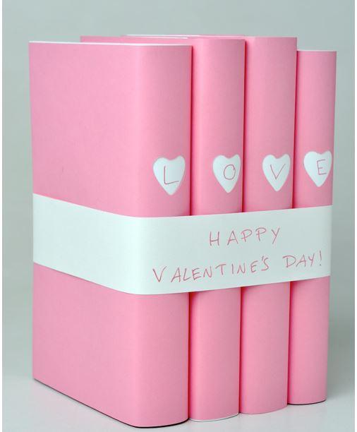 Libros decorados por San Valentín - Guía de MANUALIDADES