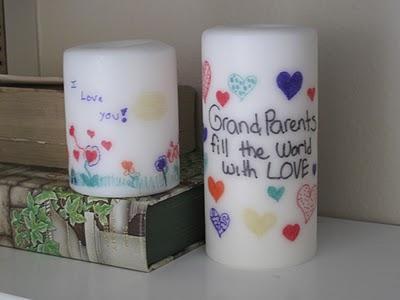 Cómo decorar velas por transferencia 5