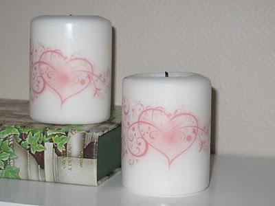 Cómo decorar velas por transferencia 7